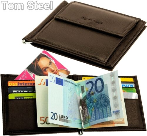 SAMSONITE Dollarclip Geld-Klammer-Börse Leder Braun Geldbeutel Portemonnaie NEU