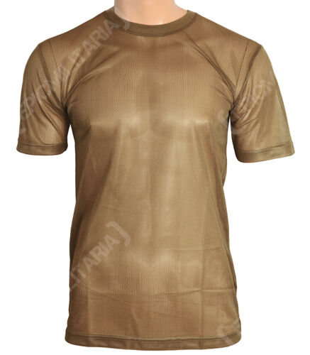 New COYOTE MESH T-Shirt All Sizes Warm Hot Weather Breathable Military Army Top