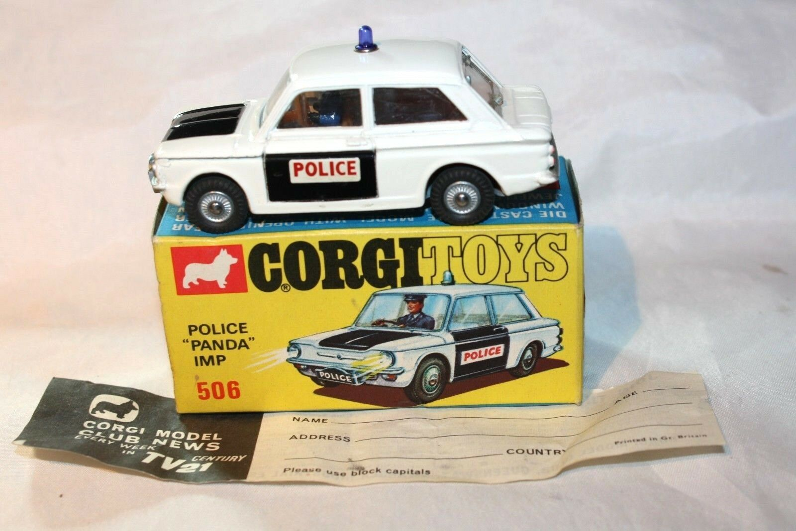 Corgi Imp Police Panda Car, Excellent in Good Original Box