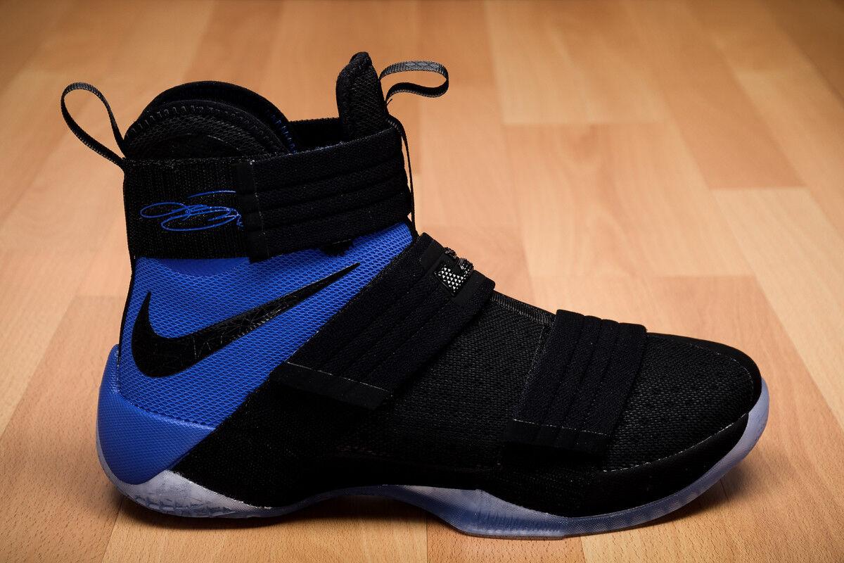 Mens Nike Nike Lebron Soldier 10 X SFG Sneakers New, Black Royal bluee 844378-004
