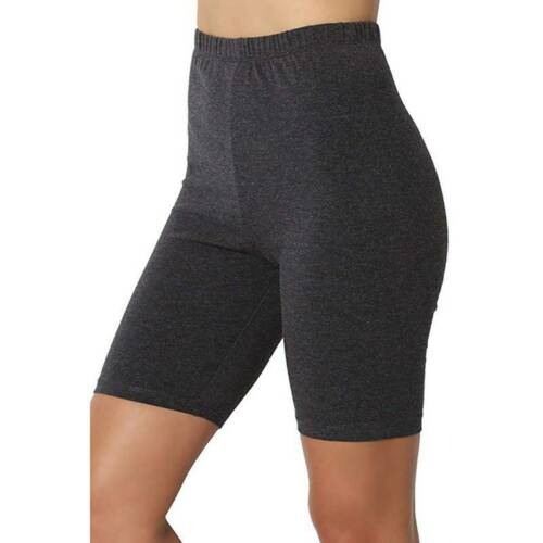 Women High Waist Short Leggings Solid Color Sports Fitness Slim Fit Yoga Pants Q