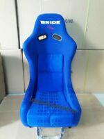 Pair (2) Blue Bride Vios Iii 3 Racing Seat Blue Frp Gradation Cloth Jdm