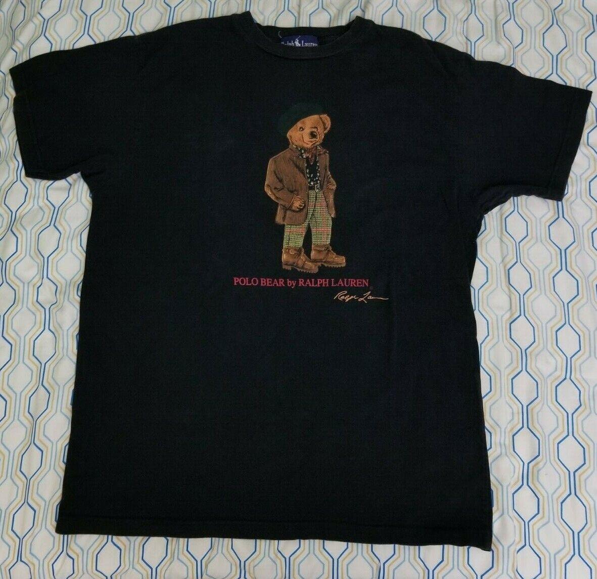 VTG 80s 90s Polo Ralph Lauren Polo Bear T Shirt B… - image 3