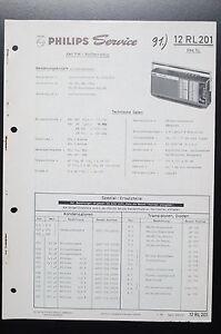 Wondrous Philips Radio 12 Rl 201 Rex Sl Original Service Manual Wiring Wiring Digital Resources Sulfshebarightsorg