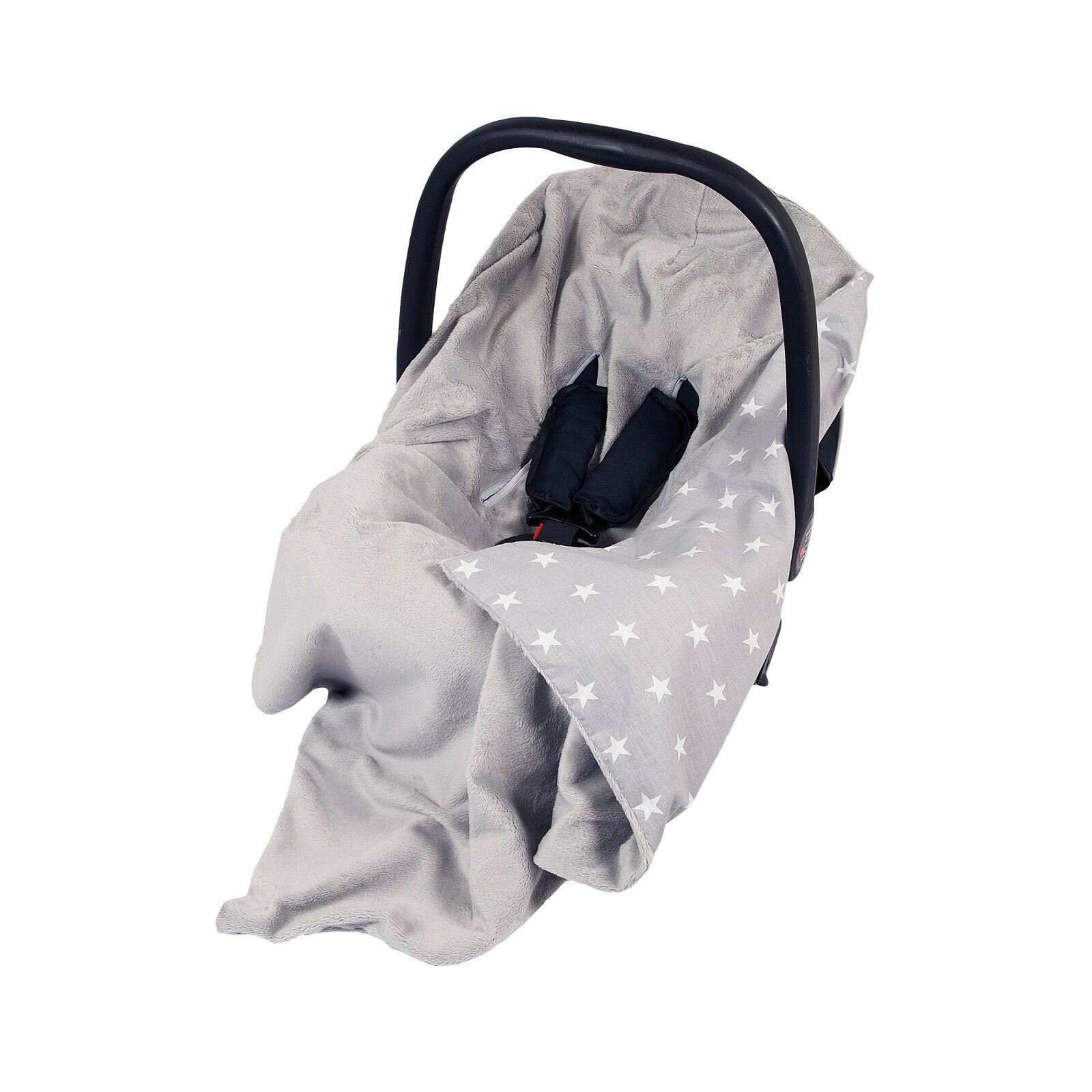 NEW GREAT DOUBLE SIDED BABY WRAP FOR CAR SEAT TRAVEL BLANKET