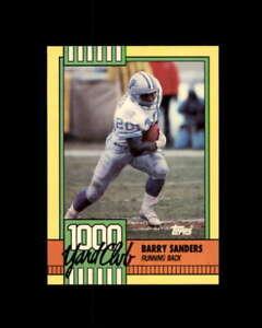Barry Sanders Card 1990 Topps 1000 Yard Club #3 Detroit Lions