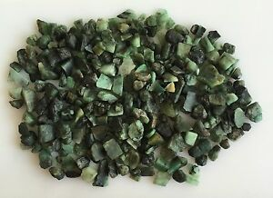 400-CTS-SCOOP-NATURAL-EMERALD-GREEN-SAWED-CHIPS-ROUGH-GEMSTONES-LOOSE-LOT-RAW