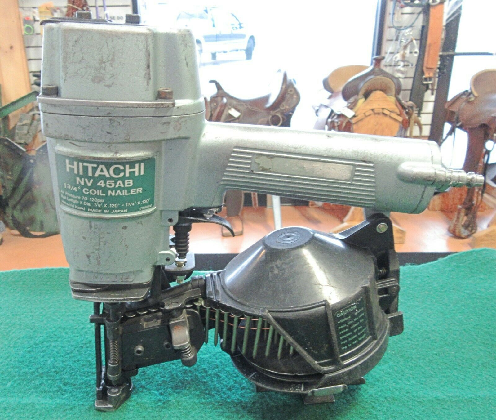 HITACHI NV 45AB 7/7 - 1-3/4 COIL NAILER - MADE IN JAPAN - VG CONDITION . Available Now for 225.00
