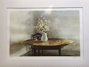 Details about Franklin Mint Watercolor: Daisies by Philip Jamison