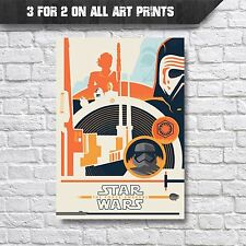 Star Wars Vintage Style The Force Awakens Poster Wall Art Print -A4 Prints