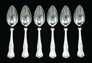6-VINTAGE-SHEFFIELD-EPNS-A1-SILVER-PLATED-KINGS-PATTERN-5-5-034-GRAPEFRUIT-SPOONS