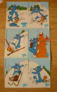 Autocollants-MONT-BLANC-Tom-et-Jerry-collectionneurs-collectionneur-noel