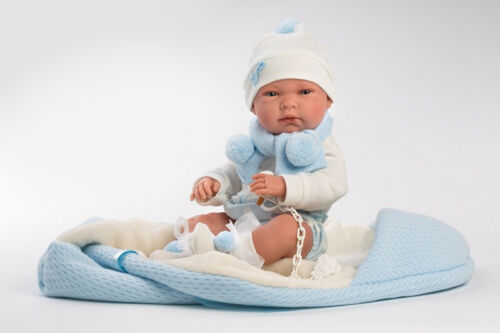 Llorens Puppe wunderschöne Babypuppe Nico chic gekleidet 40cm ab 3 Jahre 73861