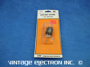 Cinch 7-Pin Miniature tube or relay socket Brown Lot of 12