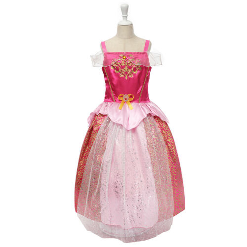 Girls Fancy Princess Costume Belle Cinderella Birthday Halloween Party Dress Up