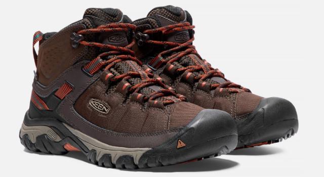 80d3f5adf4b1 KEEN 1017718 Men s Targhee Exp Mid Waterproof Hiking Boot Mulch Rust US  Size 12