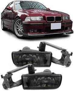 2-FEUX-ANTIBROUILLARD-FUME-NOIR-BMW-SERIE-3-E36-BERLINE-318-tds-12-1990-08-1999