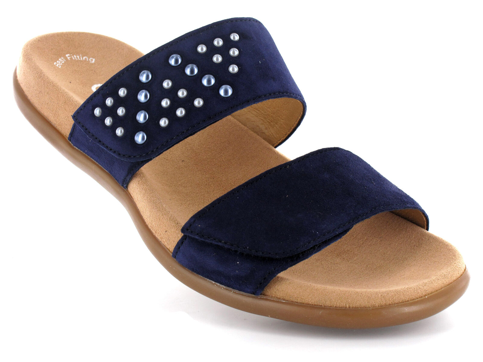GABOR Bequem Pantolette Sandale BEST FITTING Blautte 83.701.16