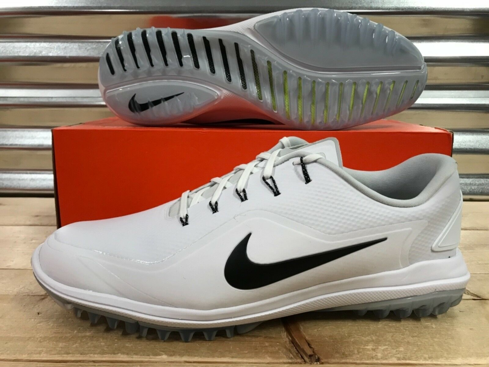 Nike Lunar Control Vapor 2 Golf SZ Shoes White Black Rory SZ Golf 14 ( 899633-100 ) 32dc09