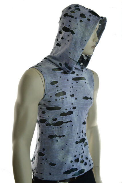 SHRINE DECAYED GREEN CAMO ROCK GOTHIC CYBER PUNK STEAMPUNK SHIRT HOODIE ZOMBIE