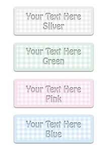 Checked Blue Pink Green Grey CUSTOM-MADE DOOR or WALL SIGN Personalised Plaque