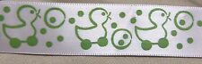 """5 yards of ASSORTED BABY PRINT SATIN RIBBON  7/8"""" w  (your choice of 3 prints)"""