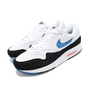 d520c05f2e1 Nike Air Max 1 White Blue Orange Mens Lifestyle Running Shoes NSW ...