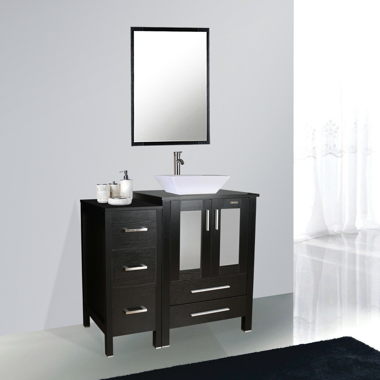 Fine Fixtures 36 Inch White Plywood Vanity Set For Sale Online Ebay