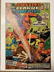 Justice-League-of-America-64-DC-Comic-Book-1st-SA-Red-Tornado-FN
