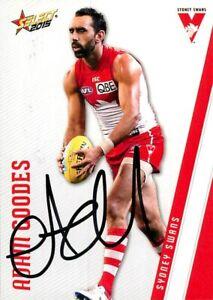 Signed-2015-SYDNEY-SWANS-AFL-Card-ADAM-GOODES