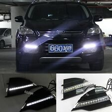 2PCS White DRL LED Daytime Running Light  Assembly For Ford Escape Kuga 13-2014