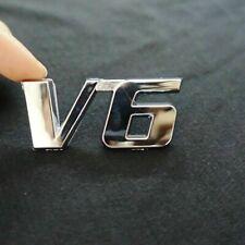 V6 Aluminum Silver Chrome 3D Emblem Decal Trunk Metal Badge Sticker RAV4 Toyota