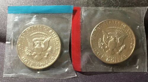 1973-P and 1973-D Gem BU Kennedy Half Dollars in Original Mint Cello Packs