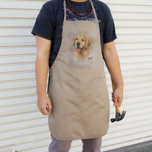 Golden Retriever Dog Breed Apron with Pockets