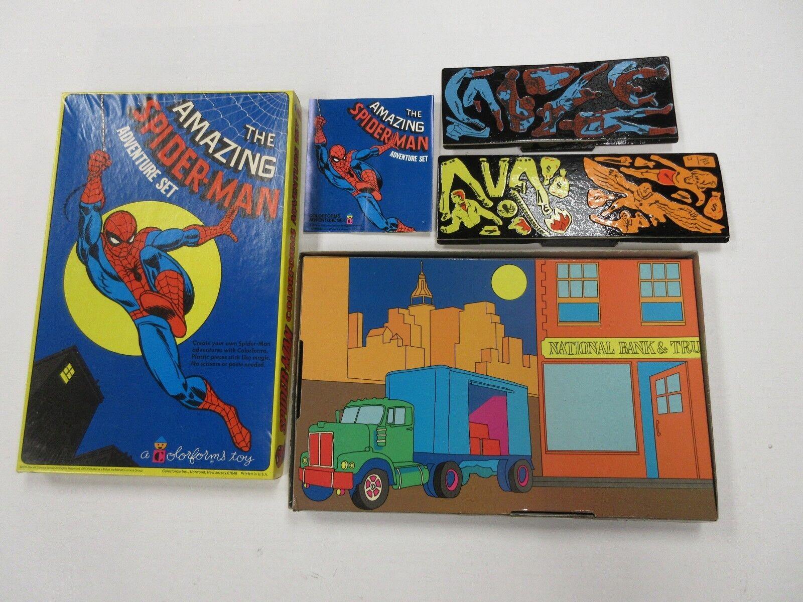 1974 COLORFORMS MARVEL COMICS SPIDER-MAN SET W  BOX