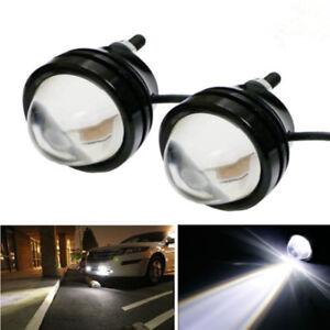 2-x-Xenon-White-5W-High-Power-Bull-Eye-DRL-Fog-Super-Light-Daytime-Driving-Light
