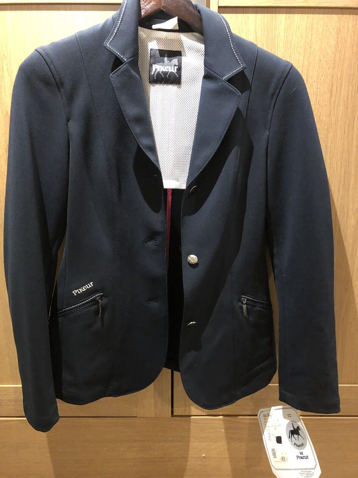Pikeur Mayla Navy Soft Shell Show Veste initialeHommest  350 neuf étiquettes