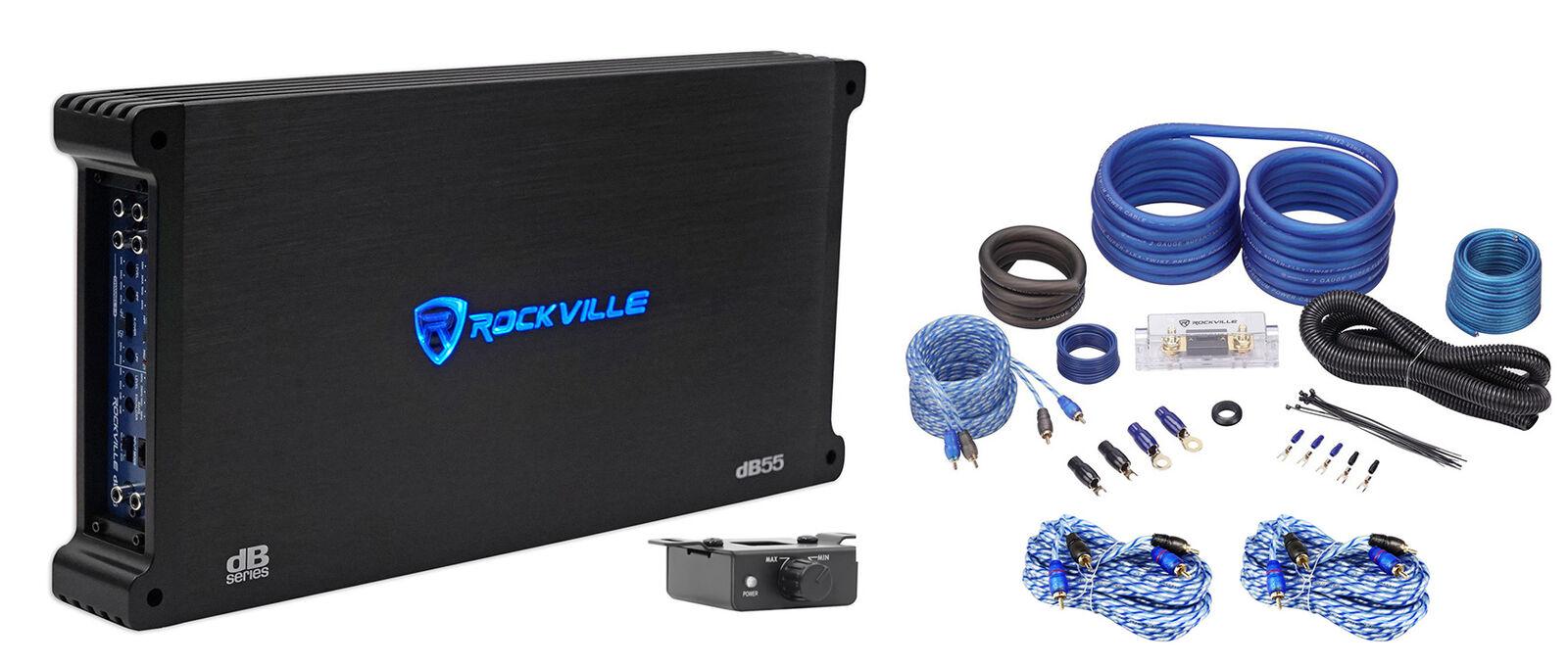 Rockville dB55 4000 Watt/2000w RMS 5 Channel Car Stereo Ampl