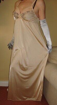 Lilac Silky Lacy Long Formal Length Bra Slip or Nightgown L-XXL BNWT