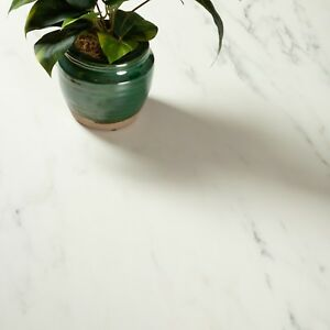 Image Is Loading Solid White Marble Compact Laminate Ultra Thin 12mm