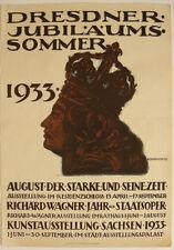 Plakat August der Starke Richard Wagner Dresden Jubiläumssommer Offset 1933