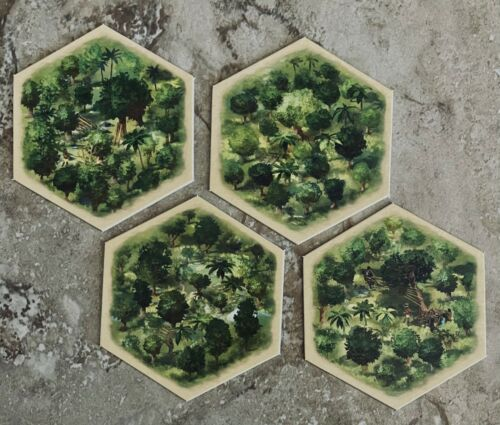 Catan Histories Rise Of The InkasForest Terrain Hex Tiles x4Game Pieces
