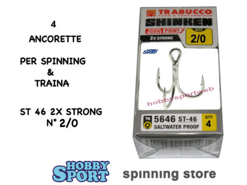 ANCORETTE OWNER TRABUCCO 5646 TN  SERIE ST 46 N 2//0   INOX  CONF 4 PZ 2X STRONG