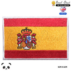 Spain-National-Flag-Embroidered-Iron-On-Sew-On-Patch-Badge-For-Clothes-etc