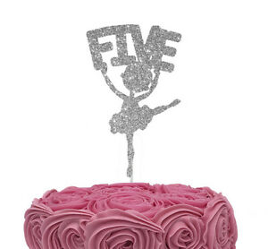Image Is Loading Ballerina Number Five 5th Birthday Ballet Cake Topper