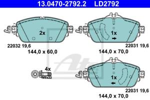 ATEScheibenbremse Scheibenbremse CERAMIC Vorne 13.0470-2792.2