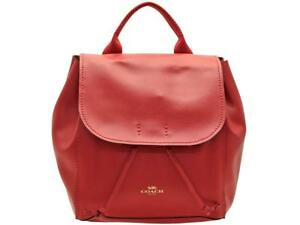 Details about Coach Large Derby Leather Backpack F38556 in True Red