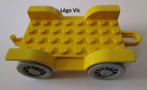 F13 Lego Fabuland 4796 c01 Car Chassis 8 x 6 Old Yellow Jaune du 3641 /& 3675
