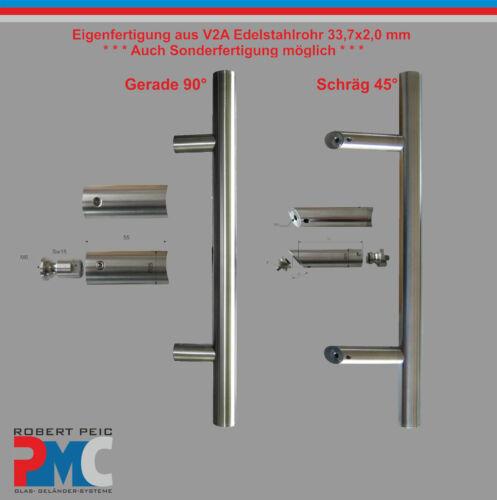 Pull Handle Door Handle Rod Stainless Steel V2A Inox Straight 90° 45°