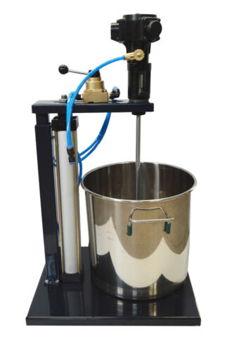 Pneumatic Mixer with Stand 5 Gallon Tank Barrel Paint Stainless Steel Mixing